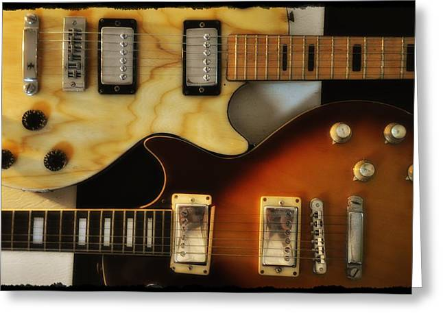 Les Paul - Come Together Greeting Card by Bill Cannon