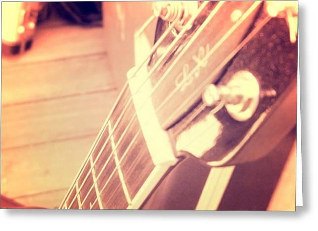 Les Paul Guitar Greeting Card by Brandi Fitzgerald