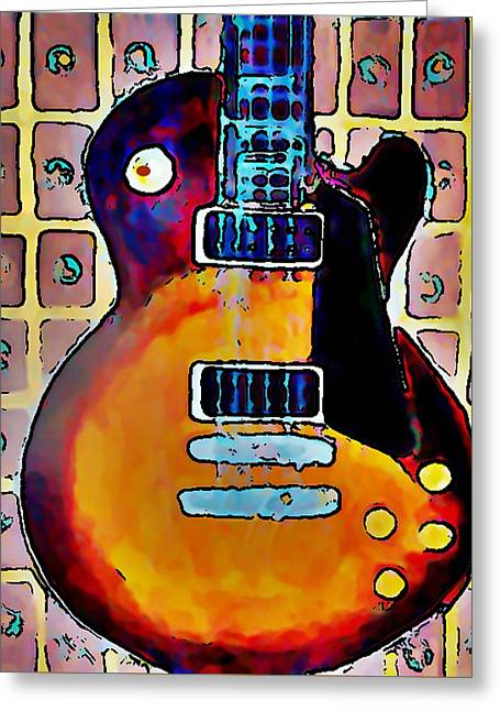 Les Paul - Print Greeting Card by Gregory McLaughlin