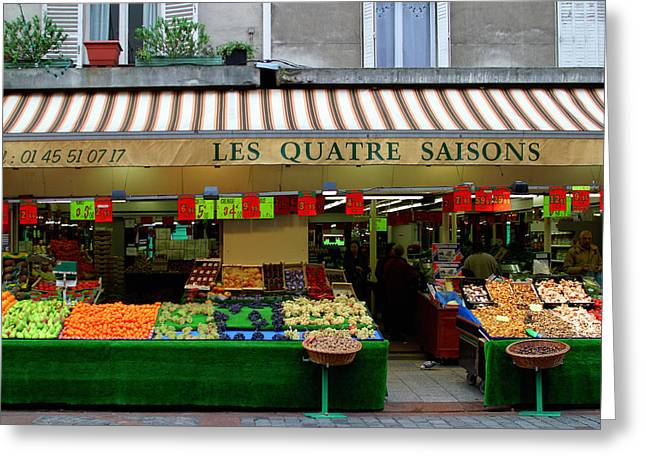 Vegetable Digital Greeting Cards - Les Quatre Saisons Greeting Card by John Galbo