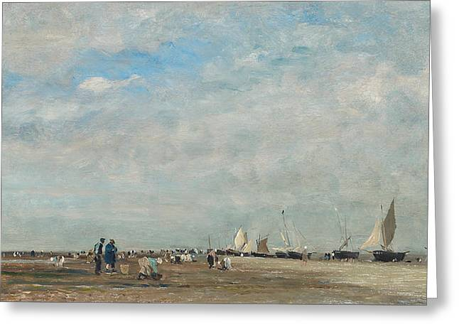 Les Ramasseurs De Coquillages Greeting Card by Charles Francois Daubigny
