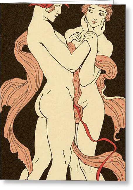 Les Remords Greeting Card by Georges Barbier