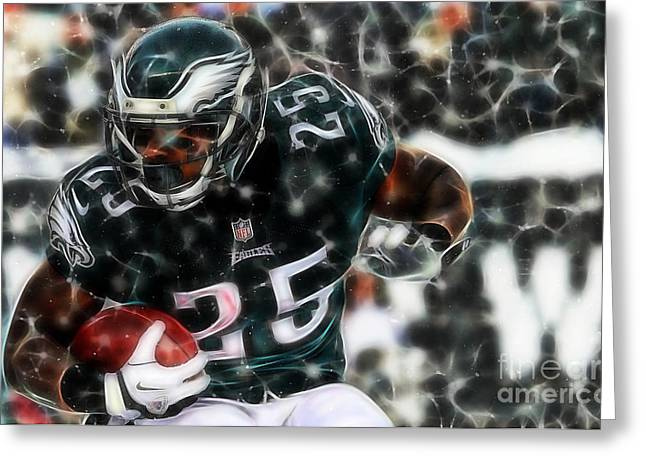 Mccoy Mixed Media Greeting Cards - LeSean McCoy Collection Greeting Card by Marvin Blaine