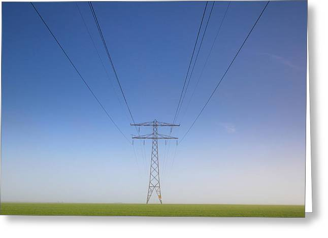 Electricity Greeting Card featuring the photograph Less Is More by Anna Zuidema