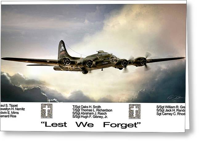 Lest We Forget Greeting Card by Peter Chilelli