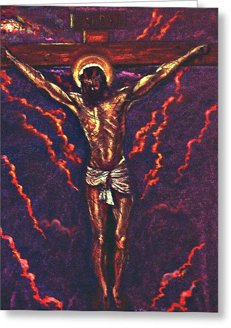 Christ Pastels Greeting Cards - Lest We Forget Greeting Card by Tommy  Winn
