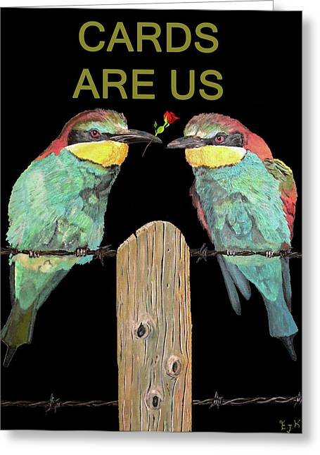 Lesvos Greeting Cards - Lesvos Birds Greeting Card by Eric Kempson