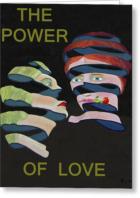Lesvos Greeting Cards - Lesvos Rose The Power Of Love Greeting Card by Eric Kempson