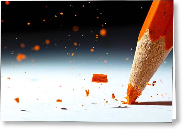 Pencil Greeting Cards - Let It Rain Greeting Card by Christophe Kiciak
