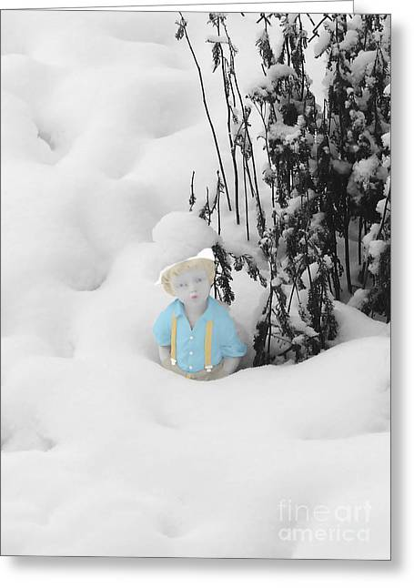 Suspenders Greeting Cards - Let It Snow Greeting Card by Al Bourassa