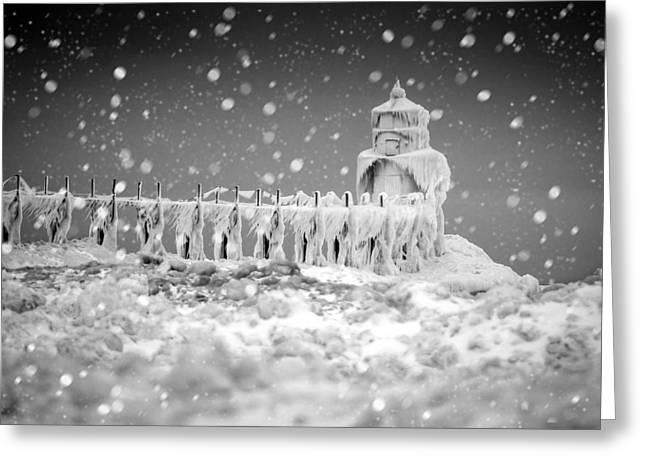 Let It Snow Greeting Card by Jackie Novak