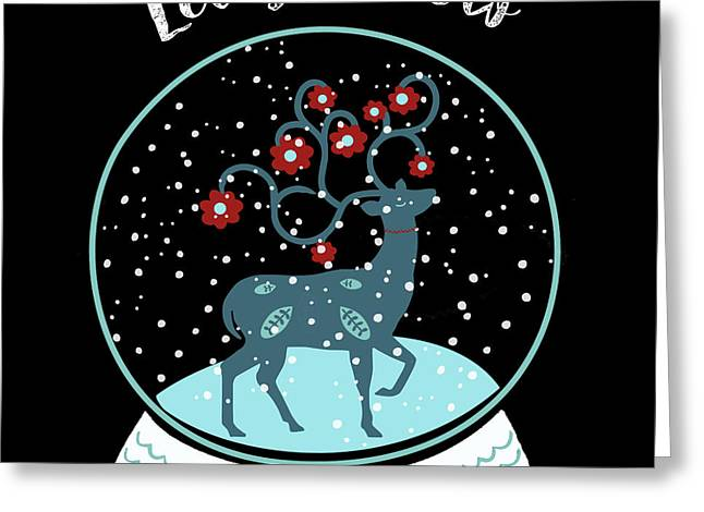 Let It Snow Greeting Card by Marilu Windvand