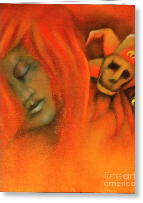 Mythology Greeting Cards - Let Me Talk Over Your Left Shoulder Greeting Card by Roger Williamson