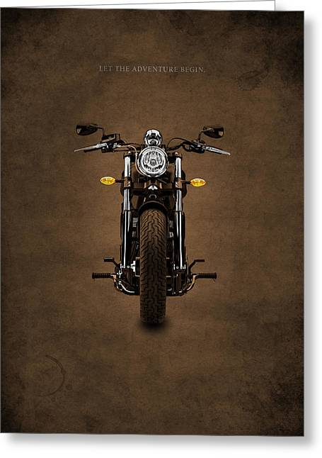 Motorcycle Poster Greeting Cards - Let The Adventure Begin Greeting Card by Mark Rogan