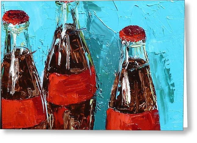 Bottle Cap Paintings Greeting Cards - Let the Good Times Roll Greeting Card by Jacklyn Karabaich