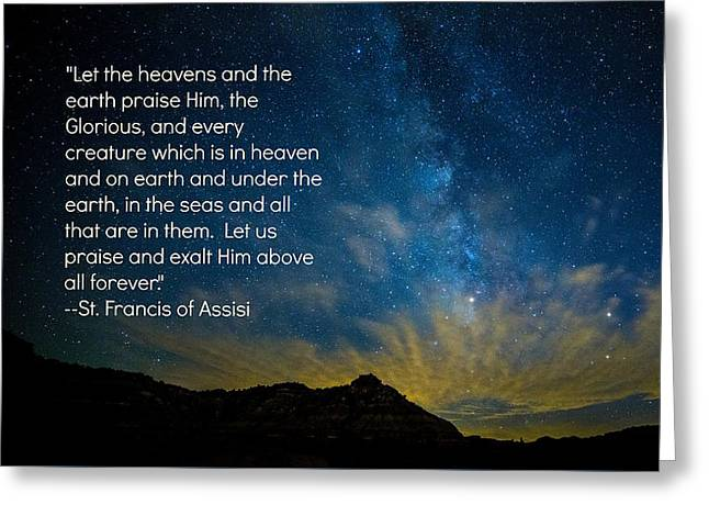 Let The Heavens Praise Greeting Card by Stephen Stookey
