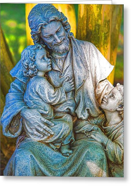 Christ Child Greeting Cards - Let the little children come to me Greeting Card by Dennis  Baswell