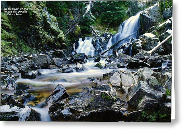 Stream Greeting Cards - Let the world do as it will Greeting Card by Jeff  Swan