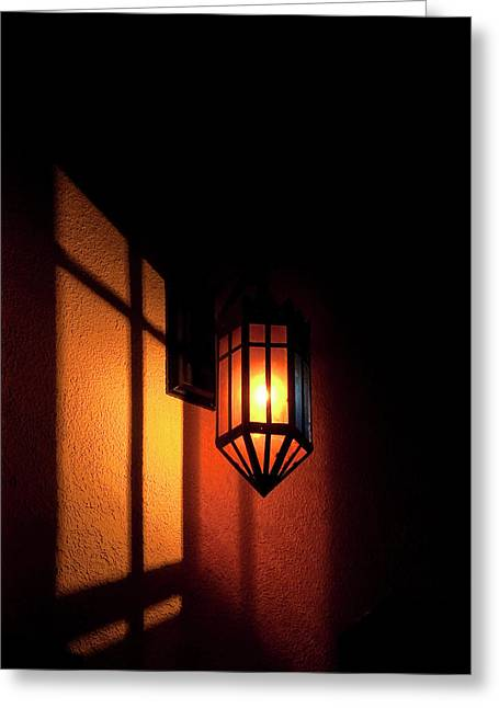 Shadowplay Greeting Cards - Let there be light.. Greeting Card by Nina Stavlund