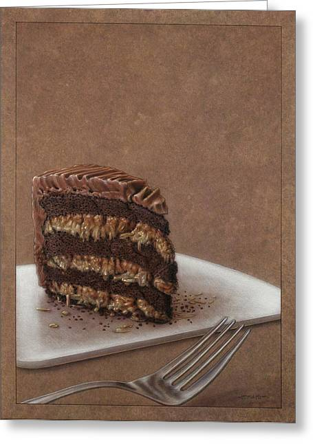 Layered Greeting Cards - Let us eat cake Greeting Card by James W Johnson