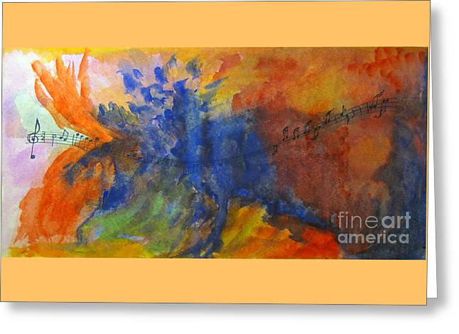 Let Your Music Take Wing Greeting Card by Sandy McIntire