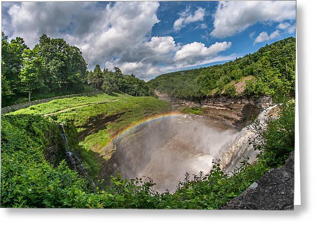 Finger Lakes Greeting Cards - Letchworth State Park Gorge Greeting Card by Steve Harrington