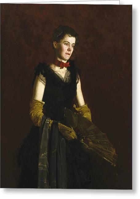 Letitia Wilson Jordan Greeting Card by Thomas Eakins