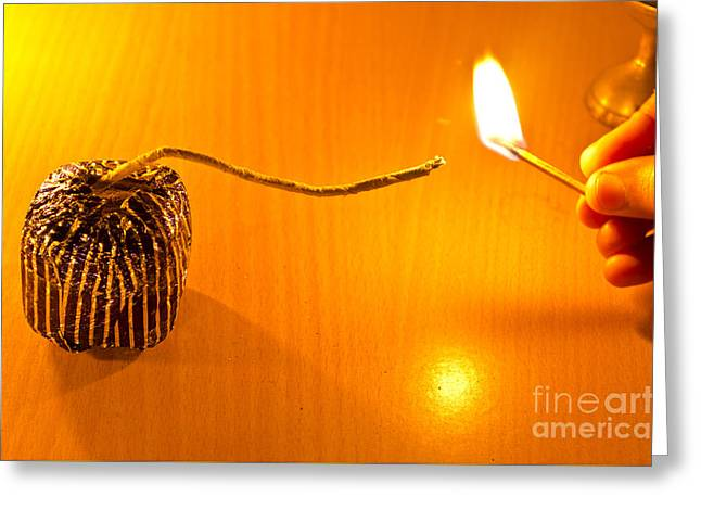 Pyrotechnics Greeting Cards - Lets blast Greeting Card by Image World