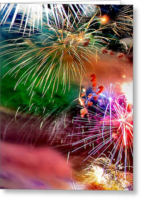 Firework Greeting Cards - Lets Celebrate Greeting Card by Az Jackson