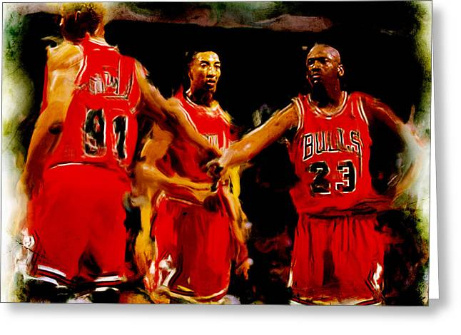 Air Jordan Mixed Media Greeting Cards - Lets Do This Greeting Card by Brian Reaves