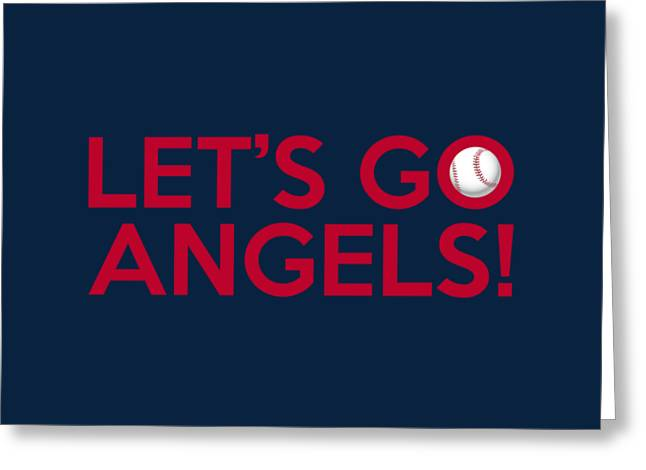 Baseball Bat Greeting Cards - Lets Go Angels Greeting Card by Florian Rodarte