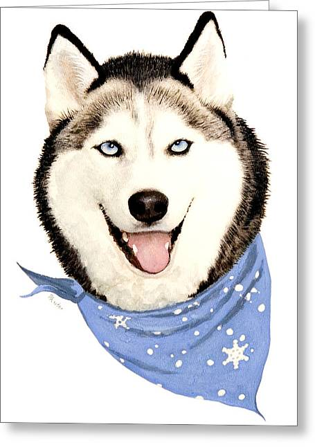 Husky Greeting Cards - Lets Go Greeting Card by Brent Ander