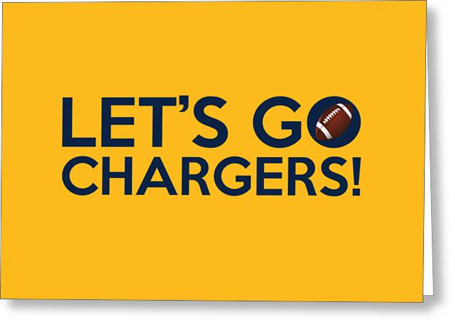 Nfl Greeting Cards - Lets Go Chargers Greeting Card by Florian Rodarte