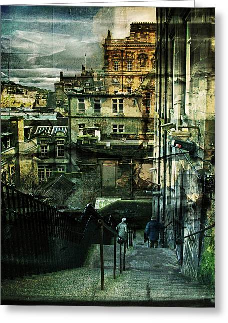 Old Town Mixed Media Greeting Cards - Lets Go Down Together Greeting Card by Dorit Fuhg