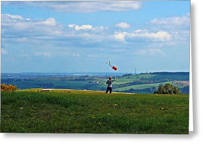 Kite Greeting Cards - Lets go fly a kite Greeting Card by Jane McGowan