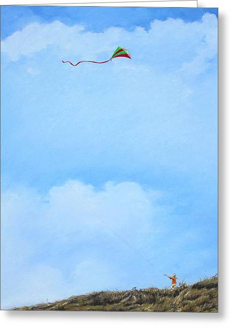 Kites Pastels Greeting Cards - Lets Go Fly A Kite Greeting Card by Richard Laycock