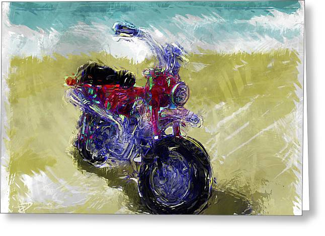 Lets Go For A Ride Greeting Card by Russell Pierce