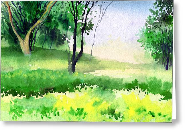 Anil Nene Greeting Cards - Lets go for a walk Greeting Card by Anil Nene