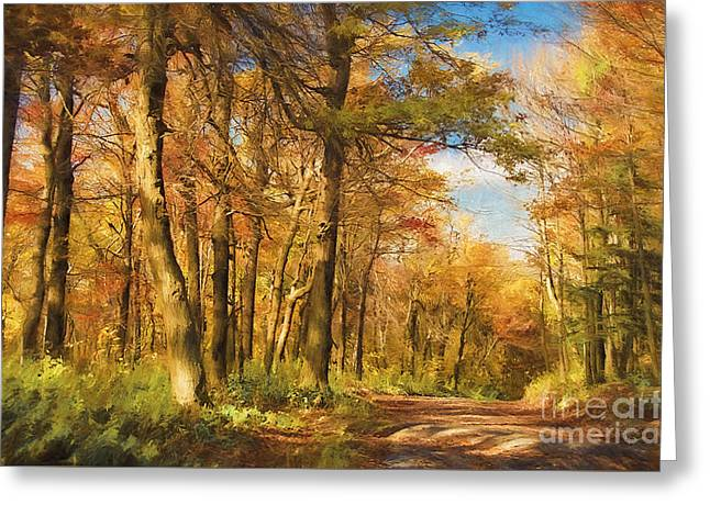 Let's Go For A Walk Greeting Card by Lois Bryan