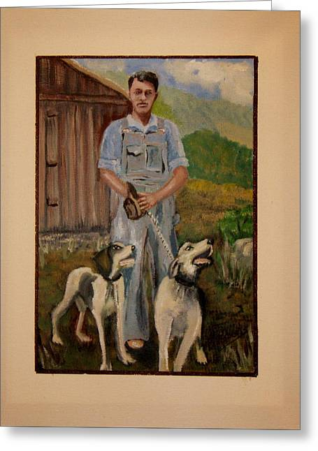 Old Home Place Greeting Cards - Lets Go Hunting Greeting Card by Bobbie Roberts