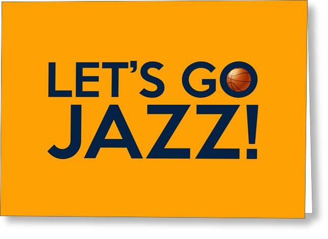Let's Go Jazz Greeting Card by Florian Rodarte