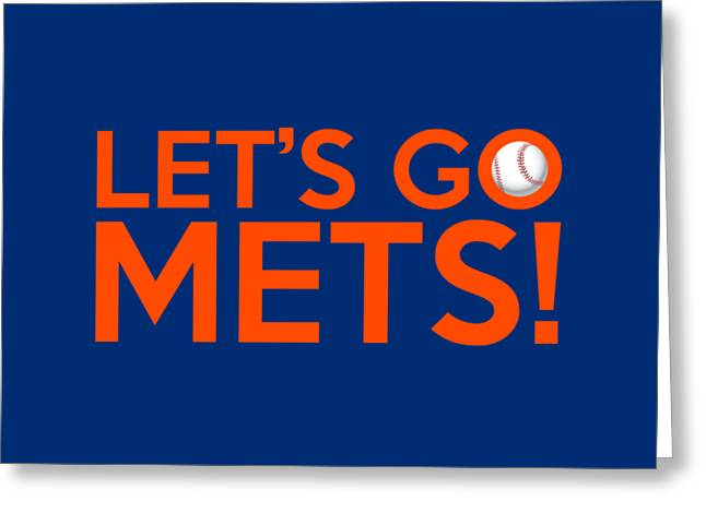 Baseball Bat Greeting Cards - Lets Go Mets Greeting Card by Florian Rodarte
