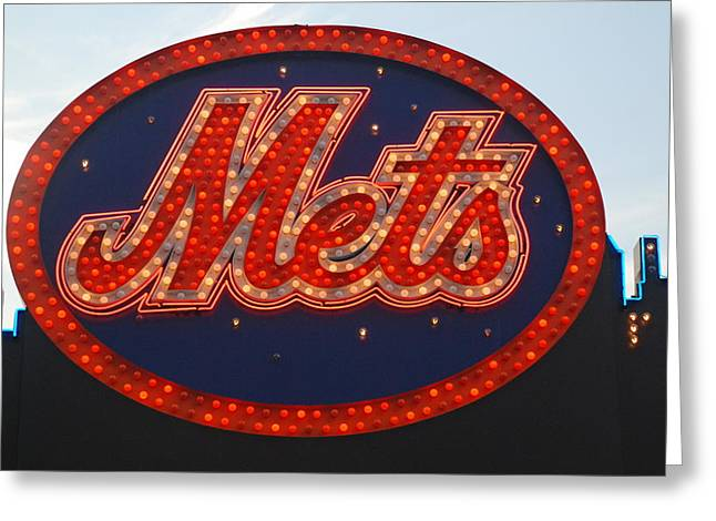 League Greeting Cards - Lets Go Mets Greeting Card by Richard Bryce and Family