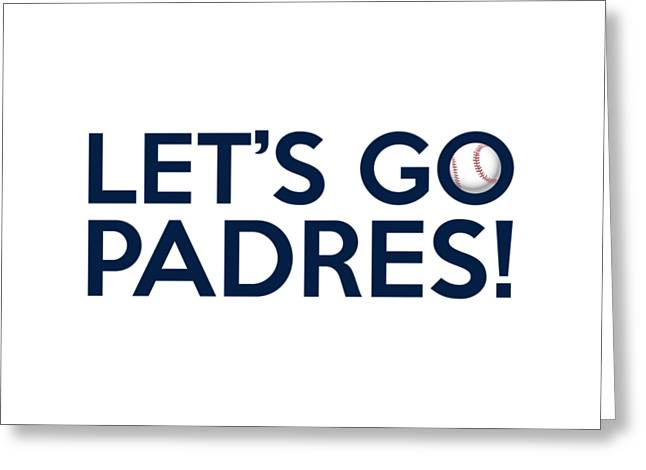 Baseball Bat Greeting Cards - Lets Go Padres Greeting Card by Florian Rodarte