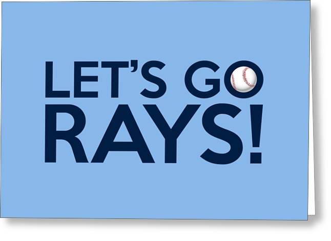 Baseball Bat Greeting Cards - Lets Go Rays Greeting Card by Florian Rodarte