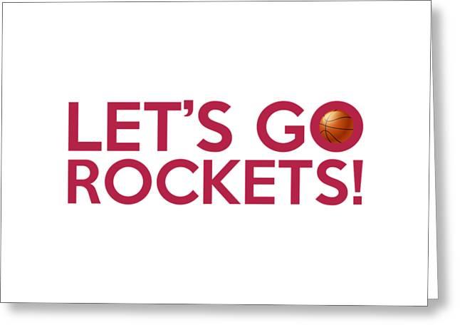 Slamdunk Greeting Cards - Lets Go Rockets Greeting Card by Florian Rodarte