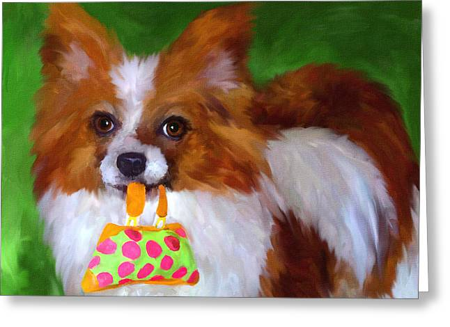 Toy Shop Paintings Greeting Cards - Lets Go Shopping Greeting Card by Jai Johnson