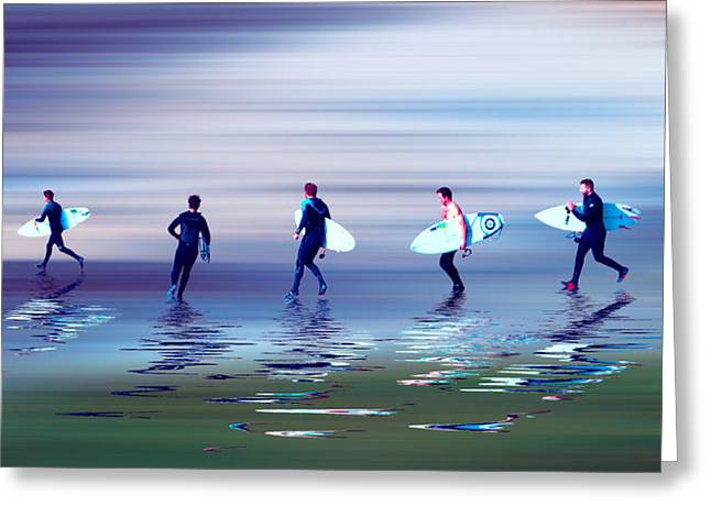 Beach Greeting Cards - Lets go surf 2 Greeting Card by Sharon Lisa Clarke