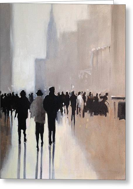 Recently Sold -  - People Paintings Greeting Cards - Lets Go With Them Greeting Card by Betsy Havens