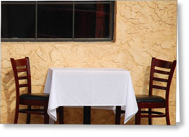 Lets have lunch together Greeting Card by Susanne Van Hulst